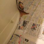 新聞紙で型紙を作る