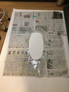 取り外した型紙
